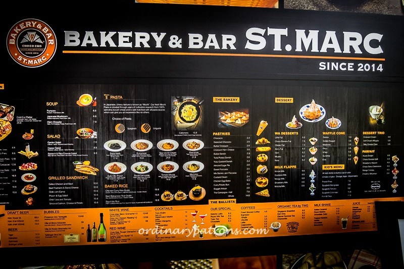 Menu - Bakery & Bar ST. MARC @ Parkland Green