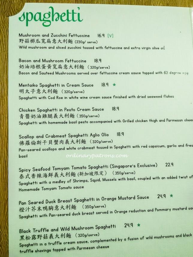 Dazzling Cafe Singapore Menu