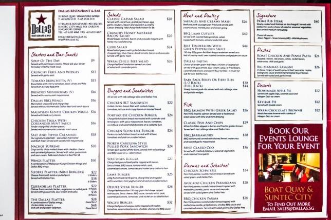 Dallas restaurant bar sky garden suntec city for X cuisine miri menu