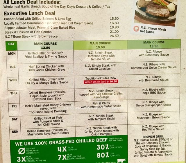 Jack;s Place Bras Basah Complex Set Lunch - 1