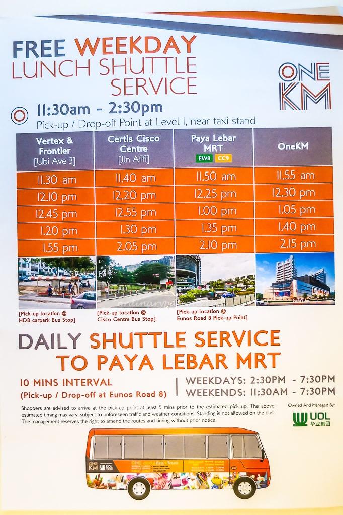 One KM Shuttle to MRT