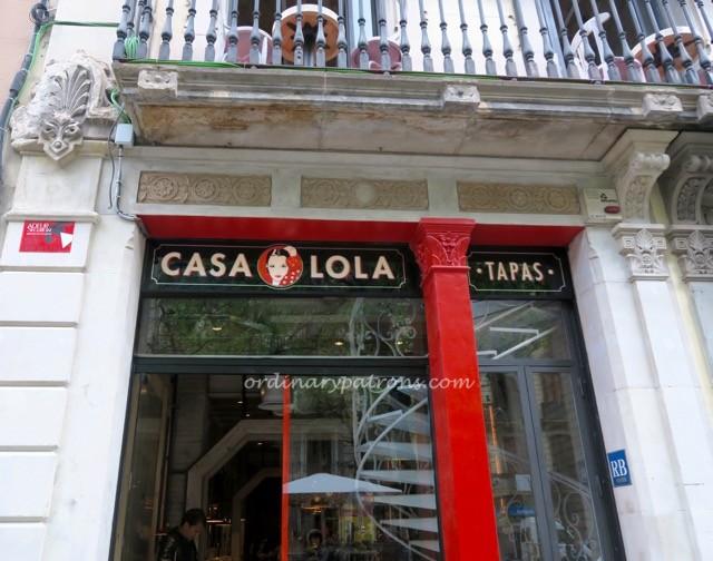 Casa Lola Barcelona tapas restaurant - 1