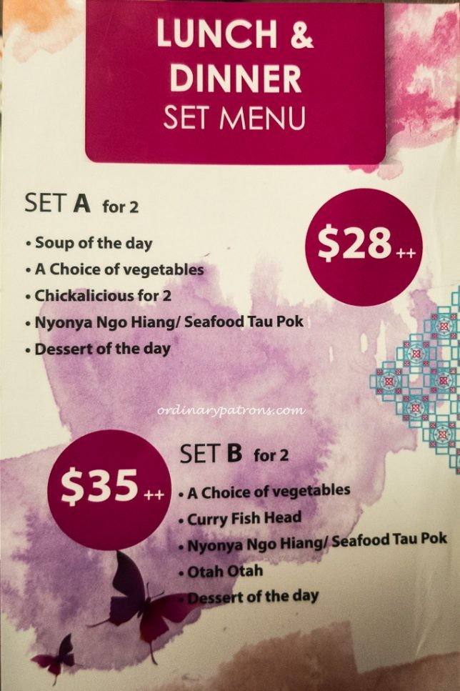 Babalicious Set Meals