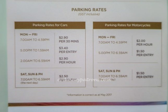Tanjong Pagar Centre Car Park Rates