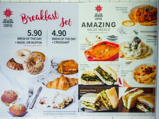 Tanjong Pagar Centre Jewel Coffee Menu