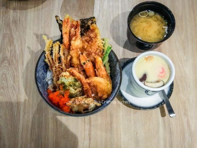 Kogane Yama tempura rice don