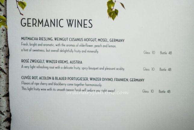 Wine in hans im glück Singapore