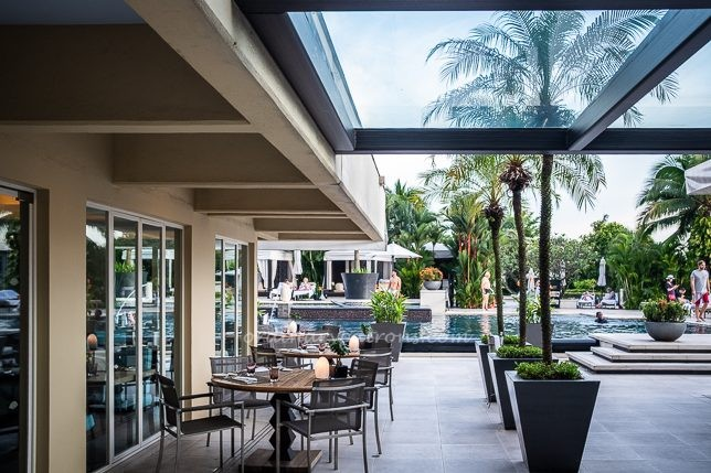 Dolce Vita offers modern Italian cuisine by the pool at Mandarin Oriental