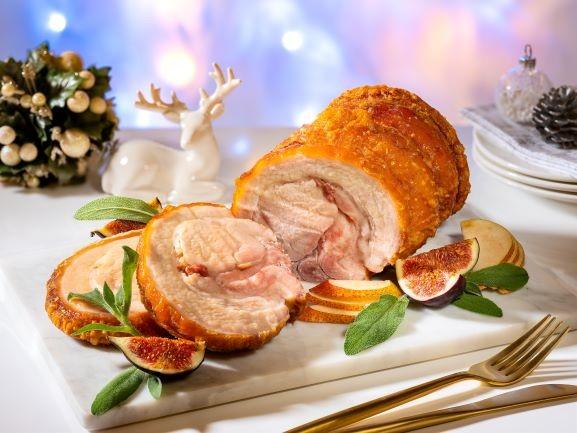 Marriott Cafe - Signature Roast Pork Saddle stuffed with Pancetta, Prunes & Mixed Herbs