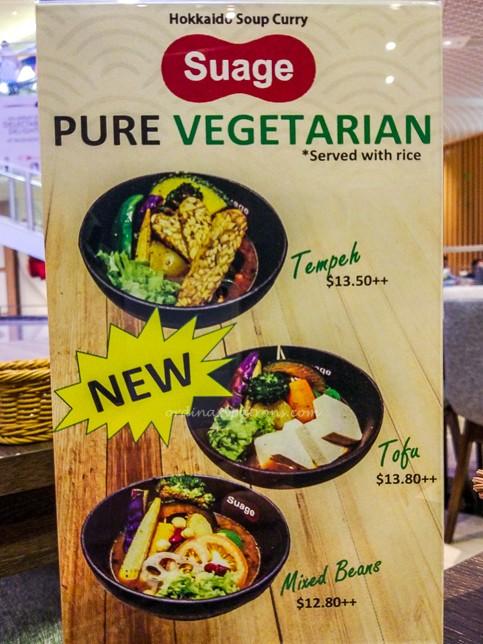 Vegetarian Menu ofSuage Hokkaido Soup Curry