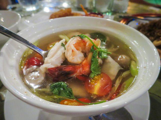 Tom Yum Soup @ Basil & Thyme