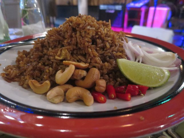Olive Fried Rice at Basil & Thyme restaurant