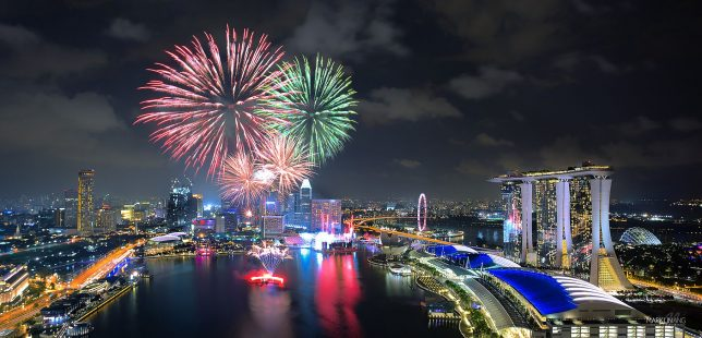 View of Fireworks from Level33