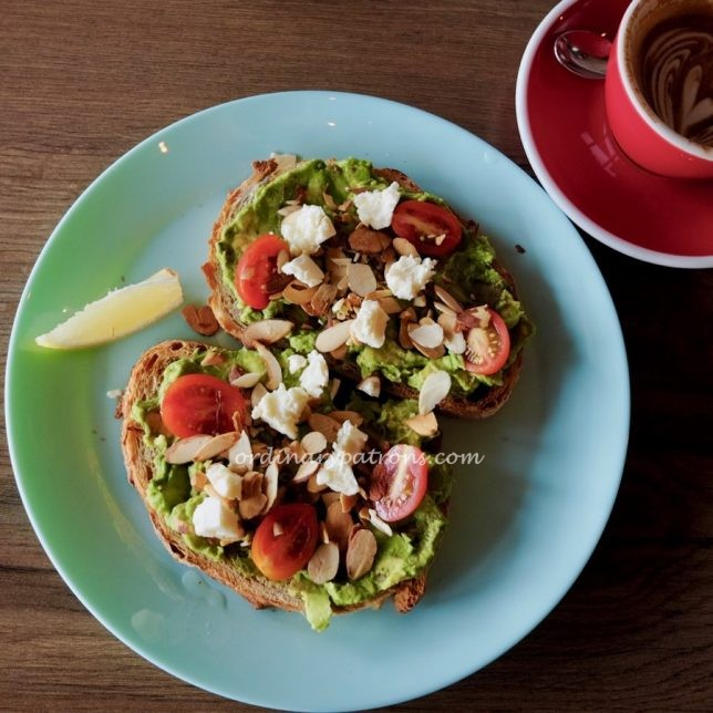 One Man Coffee avocado toast