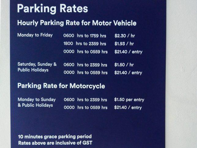 PLQ Car Park Rates