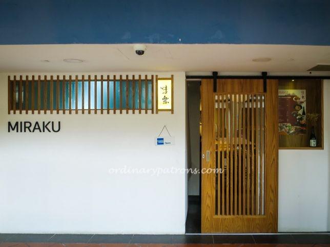 Miraku 味楽 - new sushi restaurant