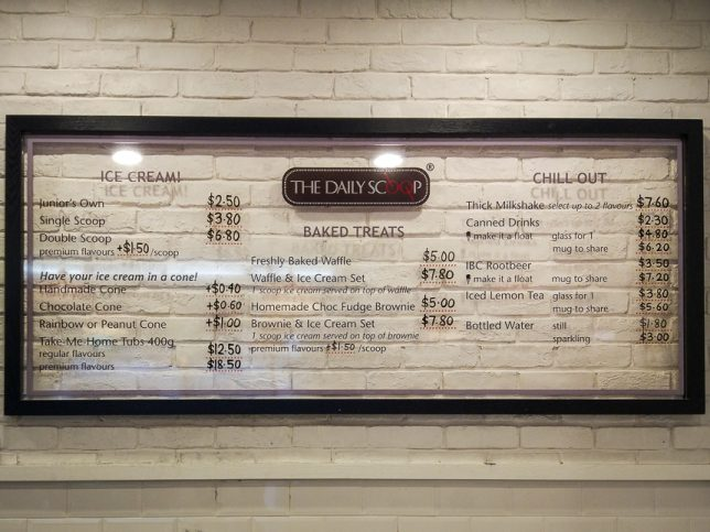 The Daily Scoop mENU