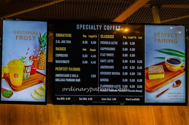 Joe & Dough Coffee menu and prices