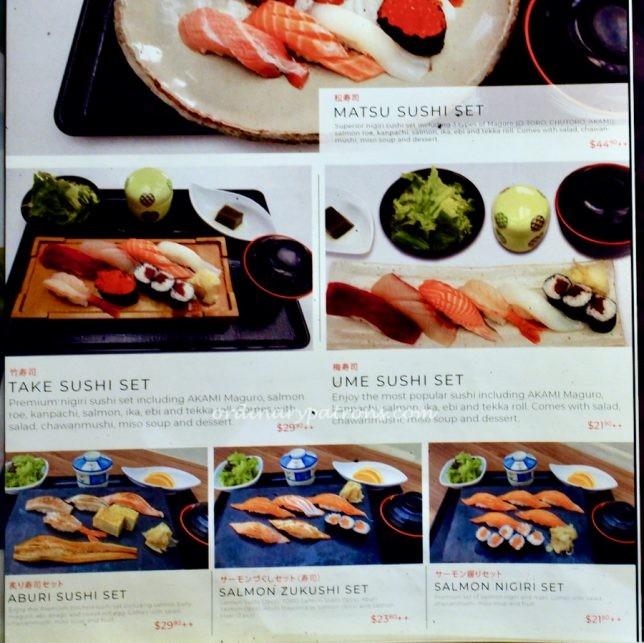 MaguroDonya Miuramisakikou Sushi Suntec City Menu