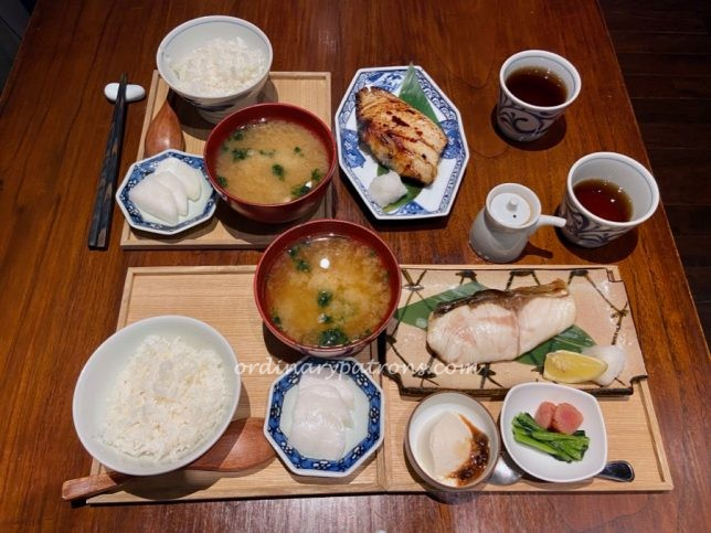 A traditional lunch at a Japanese Restaurant in Mandarin Gallery