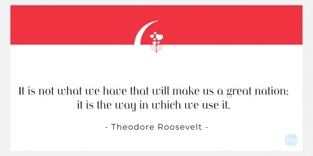 It is not what we have that will make us a great nation; it is the way in which we use it. - Theodore Roosevelt