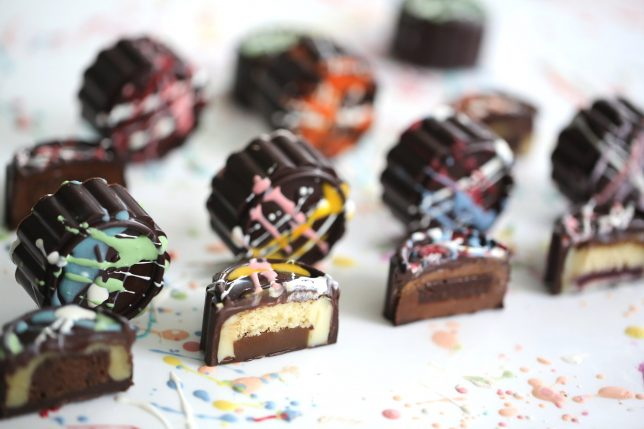 Janice Wong Chocolate Mooncakes.