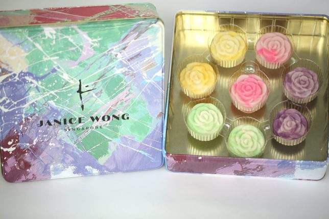 Janice Wong Floral Snow Skin mooncakes and Flower Gift Box