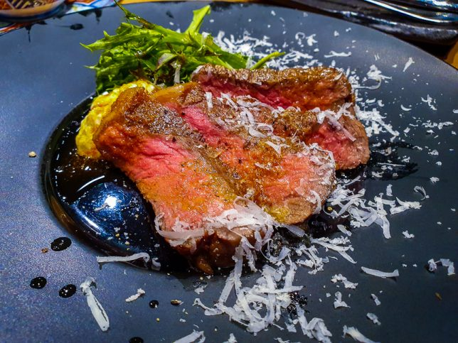 Omakase at Monte Risaia Japanese Italian Restaurant - Wagyu Beef