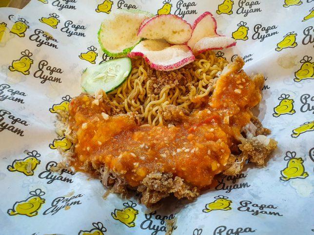 Ayam geprek Indomie